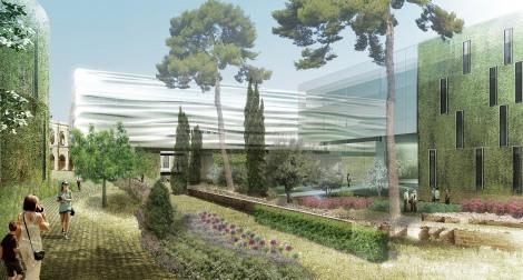 Vue du jardin de la Romanité2bis