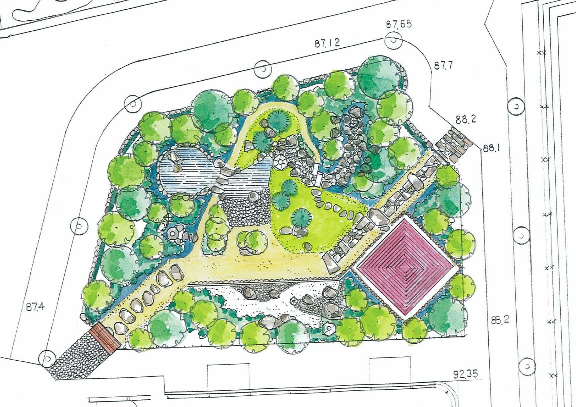 Jardin japonais issy les moulineaux 2015 agence m rist me paysage environnement for Plan jardin japonais